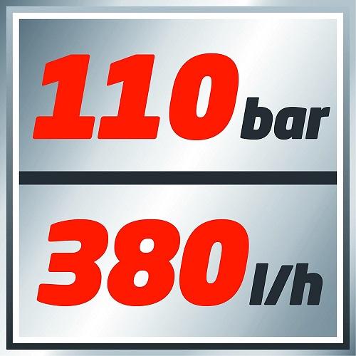Einhell TC-HP 1538 110 bar mit 380 Liter die Stunde