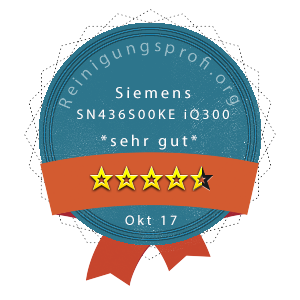 Siemens-SN436S00KE-iQ300-Wertung
