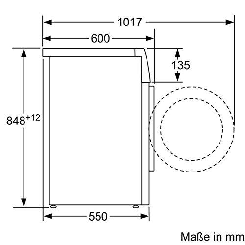 Siemens iQ300 WM14N140 Maße