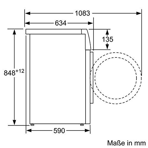 Siemens iQ700 WM16W540 Maße