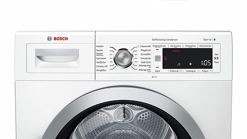 Bosch WTW875W0 Serie 8 Menu Panel