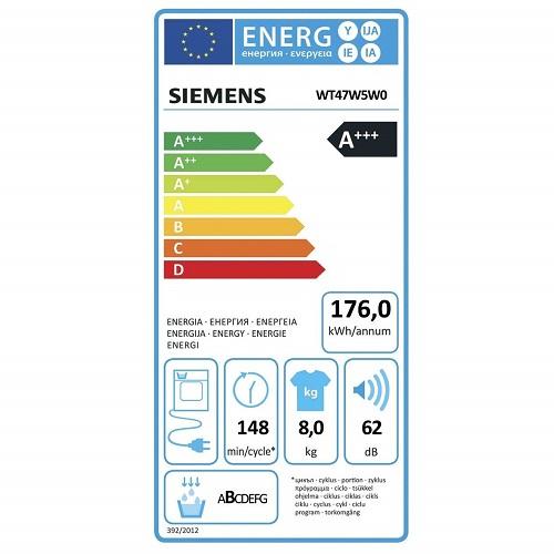 Siemens WT47W5W0 iQ700 Energieeffizienz